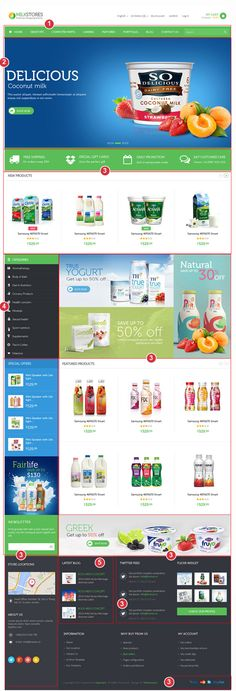 Buy Leo Milk Store Shopify Theme by leo-theme on ThemeForest. Details Leo Milk Store is really nice , smart and responsive template with totally reworked layout and huge amount o. Cool Themes, My Themes, Milk Store, Best Website Templates, Responsive Template, Web Design, Really Cool Stuff, Things To Come, Leo