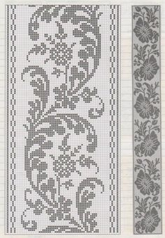Filet crochet wine leaf yiii3w