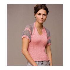 Quick Short-Sleeve Shrug Knitting Pattern from Interweave. $6.00