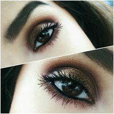 'Red/Orange Glam' look by Alyssa K using Makeup Geek's Bada Bing, Bitten, Cocoa Bear, Corrupt, Hipster and Shimma Shimma eyeshadows.