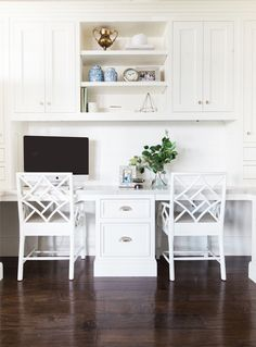 Built-in Desk in Kitchen || Studio McGee
