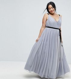 Buy ASOS CURVE Tulle Maxi Dress With Ribbon Ties at ASOS. With free delivery and return options (Ts&Cs apply), online shopping has never been so easy. Get the latest trends with ASOS now. Girls Maxi Dresses, Plus Size Maxi Dresses, Plus Size Outfits, Dress Outfits, Blue Dresses, Curvy Fashion, Plus Size Fashion, Women's Fashion, Elegant Cocktail Dress