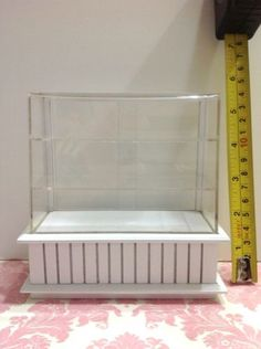 Dollhouse-Miniature-Furniture-Bakery-Food-Cake-Display-White-Cabinet-Case1-12-F4 Miniature Furniture, Dollhouse Furniture, White Cabinets, Display Case, Outdoor Furniture, Outdoor Decor, Dollhouse Miniatures, Cake Recipes, Bakery