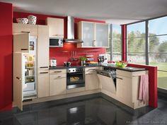 kitchen cabinets   modern light wood