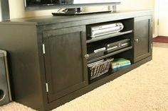 DIY Furniture : DIY Classic Storage Wall, Extra Wide Media Unit