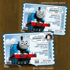 Thomas Train Invitation  Thomas and Friends by SplashboxPrintables, $10.00