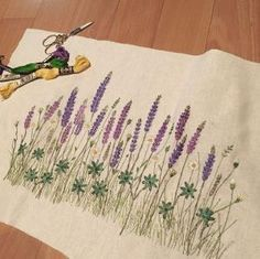Bildergebnis für Sadako Totsuka Herb Embroidery on Linen - 1 Herb Embroidery, Japanese Embroidery, Silk Ribbon Embroidery, Hand Embroidery Patterns, Cross Stitch Embroidery, Embroidery Supplies, Embroidery Thread, Bordado Popular, Bordado Floral