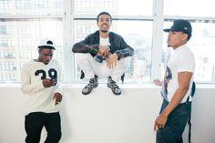 isaiah rashad, vic mensa, and chance the rapper