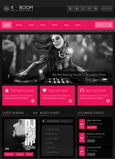 K-Boom Events and Music Theme #Webdesign #Metro Style