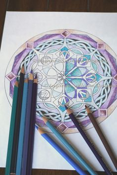 Mandala Coloring Page Adult Coloring Page by ColorMeArtStudio