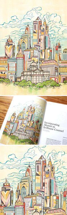 Cityscape - Jacqui Oakley Illustration