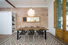 Moderno, vintage, industrial y retro, interior ecléctico en Barcelona