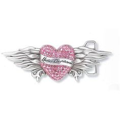 Buy Harley-Davidson Womens Pink Crystal Heart Buckle from Harley Davidson Apparel, Accessories, & Gifts. Tatoo Harley Davidson, Harley Davidson Signs, Harley Davidson Jewelry, Harley Davidson Pictures, Harley Davidson Wallpaper, Harley Davidson Motor, Harley Gear, Harley Bikes, Harley Tattoos