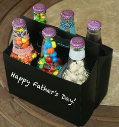 Learn how to create this fun and easy DIY six pack of treats for Dad as a DIY gift for Father's Day! Gifts candy DIY Six Pack of Treats for Dad on Father's Day Homemade Fathers Day Gifts, Diy Father's Day Gifts, Father's Day Diy, Fathers Day Crafts, Happy Fathers Day, Cute Gifts, Craft Gifts, Diy Christmas Gifts For Dad, Fathers Day Ideas For Husband