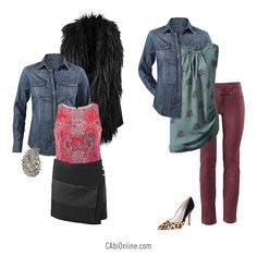 – A seasonless denim shirt that you can dress up or down! More fall outfit ideas visit http://jamiefox.cabionline.com