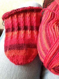 Sock recipe for plainish toe-up socks