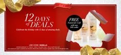Today is December 6, 2015 - Day 5 of our 12 Days of Deals:  FREE Naturals Silky Vanilla Bath & Body 5-Piece Set with any $50+ Purchase Use Code: VANILLA
