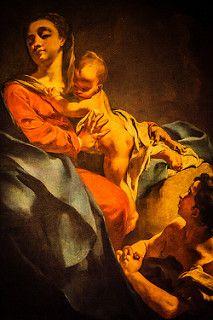 Madonna and Child with an Adoring Figure
