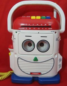 Playskool Mr Mike Voice Changer Tape Recorder Toy Story 1996 PS 468 *WORKS* #Playskool