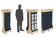 Vizualizace malého stojanu Lockers, Locker Storage, Desk, Marketing, Home Decor, Homemade Home Decor, Desktop, Safe Deposit Box, Writing Desk