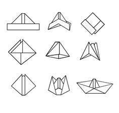 To make paper boats, first fold a piece of paper in half. Fold down both corners of the paper till they almost meet. Fold up the bottom edges of the paper so the paper now looks like a pointed hat. Bring the ends together so the paper forms a square. Fold up each edge so the paper takes the shape of an isosceles triangle. Bring the two equal angles of the triangle together to form another square and flatten the paper. Open the square by pulling the two points away from each other. Smooth the edges of the paper with your fingers to form the gunwales and give the boat enough freeboard to float without taking on water.