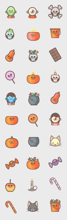 Halloween is approaching, so today we bring you a nice pack of Halloween Icons Free Download that you can get it for free and use in your halloween related projects. These icons come in 30 cute pumpkin, zombies, candies and monster icons as Adobe Illustrator vector icons, SVG icons and PNG files in 32px, 64px, 128px, 256px and 512px. Get it for free right now!