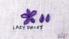Crewel Embroidery Ideas how to do a lazy daisy stitch - If you've always wanted to learn embroidery stitches, here's the perfect guide for you. I have a video tutorial for each embroidery stitch. Embroidery Stitches Tutorial, Embroidery Sampler, Learn Embroidery, Sewing Stitches, Embroidery For Beginners, Embroidery Techniques, Embroidery Patterns, Machine Embroidery, Creative Embroidery