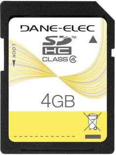 dane-elec - sd? card (4gb) Case of 2