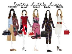 """""""pretty little liars style in season 6b"""" by esterp ❤ liked on Polyvore featuring FAUSTO PUGLISI, Sacai, Victoria, Victoria Beckham, Burberry, Mulberry, Peter Pilotto, J.Crew, Yves Saint Laurent, Roksanda and Valentino"""