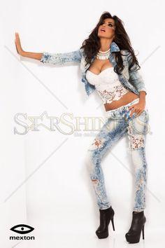 Mexton Laced Fantasy Blue Jeans Lace Fabric, Female Bodies, Fashion Boutique, Blue Jeans, Celebrity Style, Trousers, Wonder Woman, Fantasy, Superhero
