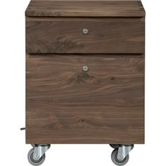 Sentry II Walnut Filing Cabinet in Filing Cabinets & Carts | Crate and Barrel
