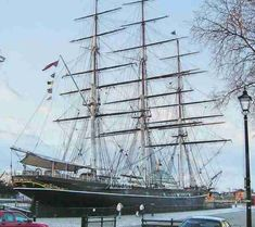 Cutty Sark, clipper sailing ship January 2005