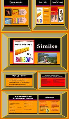 This 28 slide Powerpoint with teaching notes was designed to teach students to understand, interpret, and use similes. Includes Common Core Standards, lesson objectives, interactive review slides, corrective feedback slides, a simile song, a simile poem, a simile mad lib, concrete examples, choices for students, differentiated learning ideas, reflective practice, and activities that appeal to visual, auditory, and kinesthetic learners. #simile #commoncore #CCS