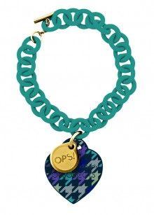 Ops! Objects náramek Pied de Poule modrý - 573 Kč Washer Necklace, Swarovski, Objects, Stone, Jewelry, Houndstooth, Rock, Jewlery, Jewerly