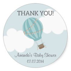 Shop Hot Air Balloon Baby Shower Thank You Stickers created by melanileestyle. Air Ballon, Hot Air Balloon, Baby Shower Thank You, Thank You Stickers, Baby Shower Balloons, Lily, Crystals, Bb, Globes