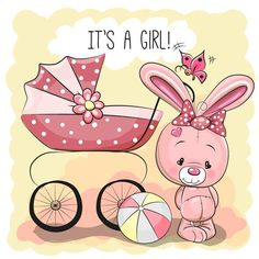 Find Greeting card it's a boy with baby carriage and Teddy Bear Stock Images in HD and millions of other royalty-free stock photos, illustrations, and vectors in the Shutterstock collection. Baby Shower Balloons, Baby Shower Parties, Baby Boy Shower, Clipart Baby, Kids Cards, Baby Cards, Scrapbook, Blue Nose Friends, Baby Painting