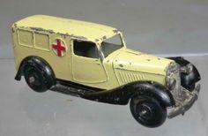 Dinky Toys diecast model Bentley Ambulance Cream - Black Chassis - Black Hubs - Open Windows #30f