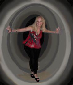 No túnel do tempo.