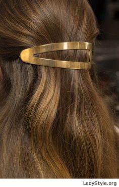 Big gold hair pin - LadyStyle