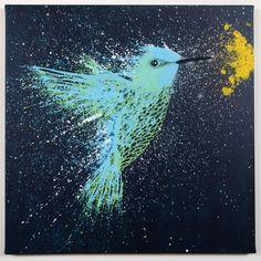 'Hummingbird' painting by Ben the Illustrator.