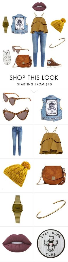 """""""🍂"""" by lena1612 ❤ liked on Polyvore featuring STELLA McCARTNEY, Suicidal Tendencies, Converse, Calvin Klein, Rachel Comey, Gabriella Rocha, Casio, Jennifer Meyer Jewelry, Lime Crime and Stay Home Club"""