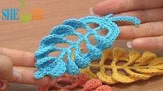 como tejer hojas en crochet - YouTube