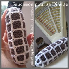 FREE PATTERN PLAY FOOD TOYS CROCHET   saucisson au crochet