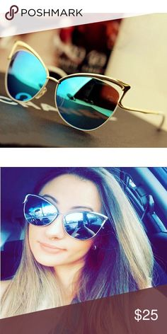 Gorgeous Cateye Sunglasses Blue 400 UV Protection. 100% Brand new and good quality. Accessories Sunglasses