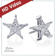 #CustomMade #RothemCollection #StarDiamondEarrings for 37% Off + Extra!!! 20% Off, Click to see the actual #Earrings.