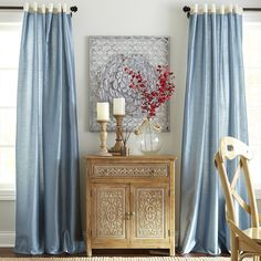Dining room? Hamilton Curtain - Gilded Smoke Blue   Pier 1 Imports