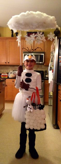 Homemade Olaf costume