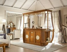 Bar aus Massivholz maritime Möbel