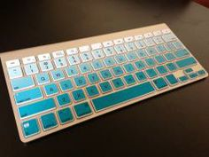 Ombre Apple Keyboard Skin in Turquoise... Love it!