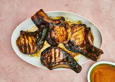 For this grilled pork chops recipe, don't be afraid of getting a good char here. The sugars caramelize the pork chops, resulting in deep, complex flavor. Pork Rib Recipes, Grilling Recipes, Cooking Recipes, Grilling Ideas, Ham Recipes, Entree Recipes, Meatloaf Recipes, Dinner Recipes, Pineapple Pork Chops